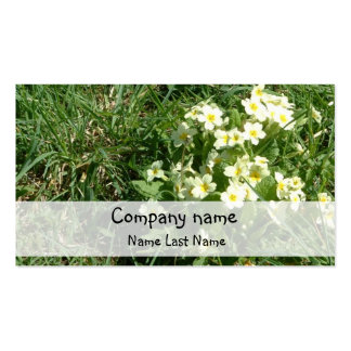 Primroses Personal Business Card Template.