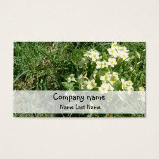 Primroses Personal Business Card Template.