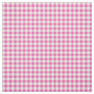 Primroses Pink and White Check Gingham Pattern Fabric