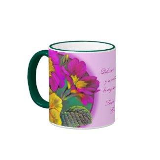 Primula floral fine art gift mug mug