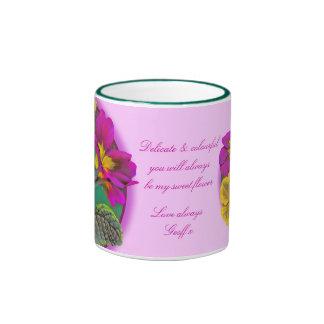 Primula floral fine art gift mug
