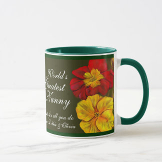 Primula floral fine art World's Greatest Nanny mug