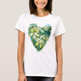 Primula veris Green Heart T-Shirt
