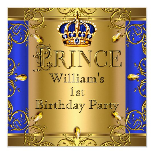 Prince Birthday Invitations Announcements – Prince 1st Birthday Invitations