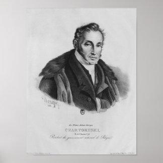 Prince Adam George Czartoryski, 1831 Poster