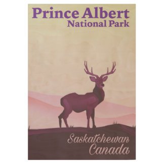 Prince Albert National Park, Saskatchewan, Canada Wood Poster