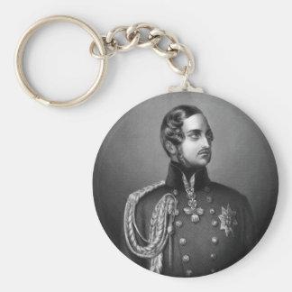 Prince Albert Portrait Basic Round Button Keychain