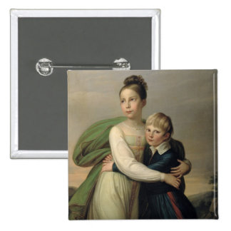 Prince Albrecht and Princess Louise, c.1817 2 Inch Square Button