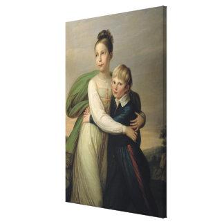 Prince Albrecht and Princess Louise, c.1817 Canvas Print