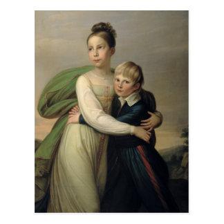 Prince Albrecht and Princess Louise, c.1817 Postcard