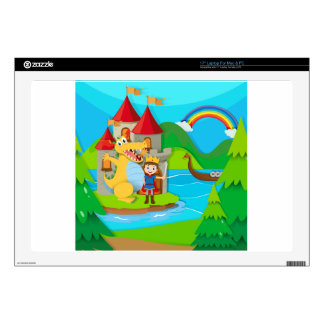 Prince and dragon in the fairy land laptop skin