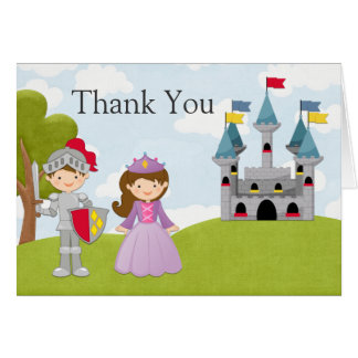 Prince and Princess Birthday Party Thank You Card