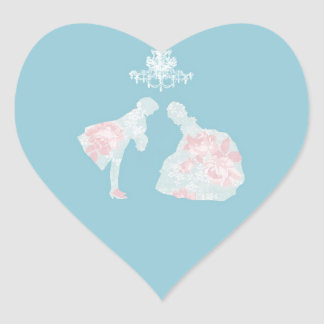prince and princess heart sticker