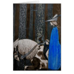 Prince and Tomte (Gnome) in the Forest Greeting Card