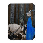 Prince and Tomten Ride Through the Woods Rectangular Magnet