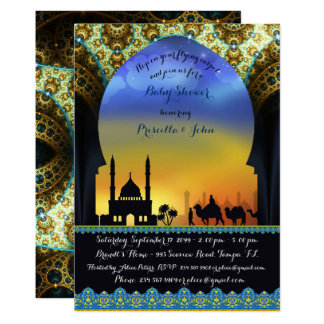 Prince Arabian Night Baby Shower Invitation