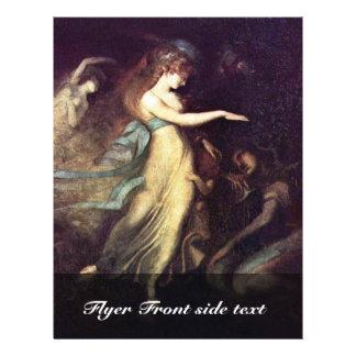 Prince Arthur And The Fairy Queen By Füssli Johann Personalized Flyer