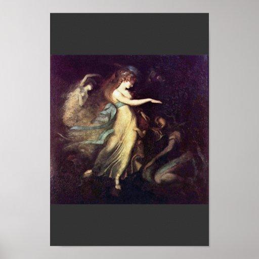 Prince Arthur And The Fairy Queen By Füssli Johann Poster