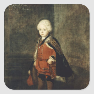 Prince Augustus William aged four, 1734 Square Sticker
