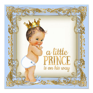 Prince Baby Shower Baby Blue Card