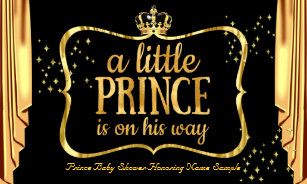 Prince Baby Shower Banners Signs Zazzle