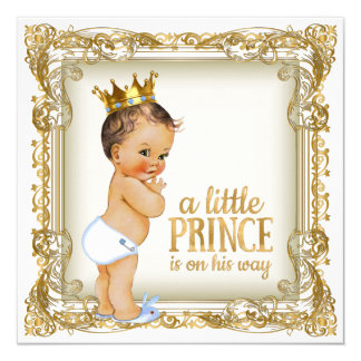 Prince Baby Shower Card