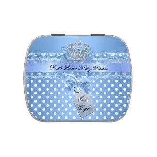 Prince Baby Shower Polka Dots Baby Boy Favor Candy Tin