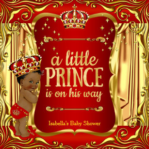 Prince Baby Shower Red Gold Gifts On Zazzle