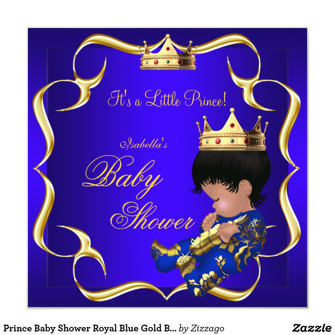 Baby Shower Invitations Prince Crown is best invitations design