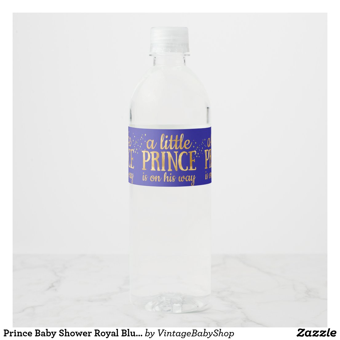 Prince Baby Shower Royal Blue Gold Foil Boy