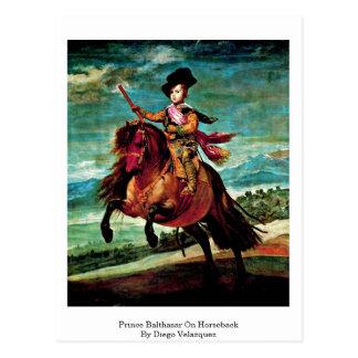 Prince Balthasar On Horseback By Diego Velazquez Postcard