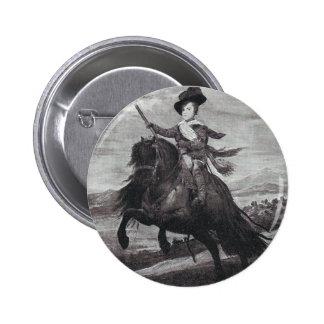 Prince Balthasar on Horseback by Velazque Button