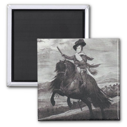 Prince Balthasar on Horseback by Velazque Magnet