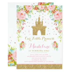 Prince birthday invitations zazzle prince birthday invitation gold princess catle filmwisefo