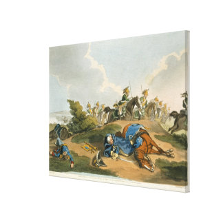 Prince Blucher under his Horse at the Battle of Wa Gallery Wrap Canvas