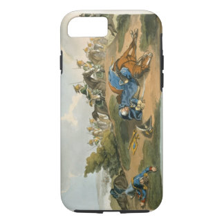 Prince Blucher under his Horse at the Battle of Wa iPhone 8/7 Case