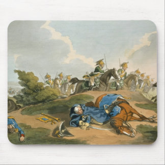 Prince Blucher under his Horse at the Battle of Wa Mouse Pad