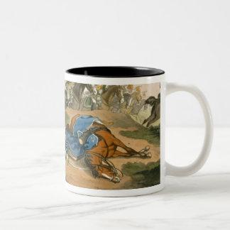 Prince Blucher under his Horse at the Battle of Wa Mug