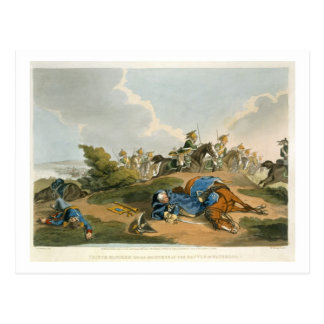 Prince Blucher under his Horse at the Battle of Wa Postcard
