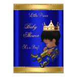 Prince Boy Baby Shower Blue Ethnic Card