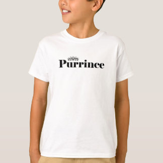 Prince Cat Pun Boys White T-Shirt