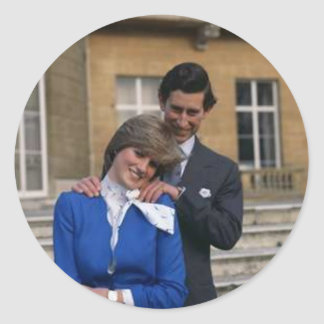 Prince Charles and Princess Diana Classic Round Sticker