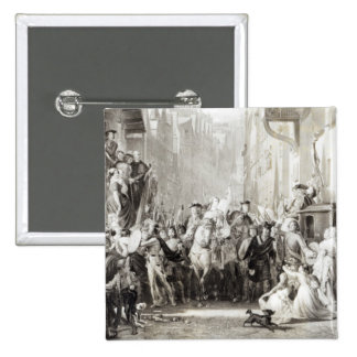 Prince Charles Edward  and the Highlanders 2 Inch Square Button