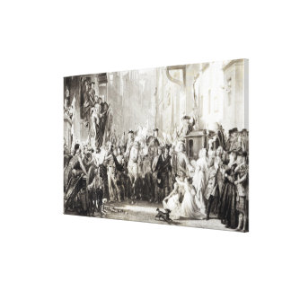 Prince Charles Edward  and the Highlanders Canvas Print