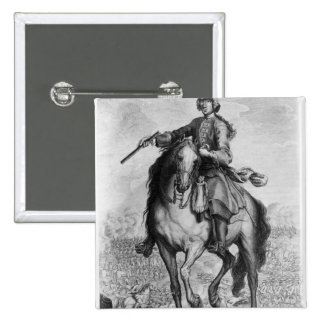 Prince Charles Edward Stuart at the Battle 2 Inch Square Button