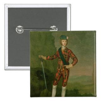 Prince Charles Edward Stuart 2 Inch Square Button