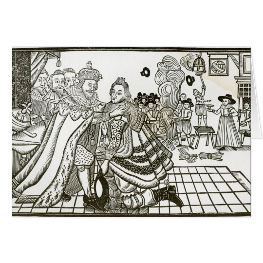 Prince Charles's Welcome Home from Spain, 1623 Card