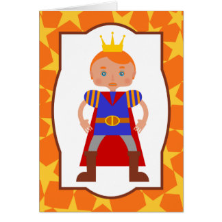 Prince Charming Boy Birthday Party Card
