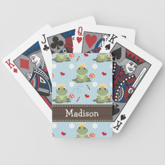 Prince Charming Frog Bicycle Playing Cards