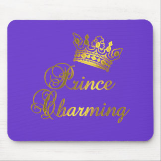 Prince Charming in Gold T-shirt for Baby or Adult Mouse Pad